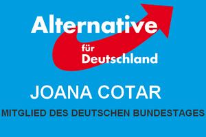Joana Cotar – Mitglied des Deutschen Bundestages Logo